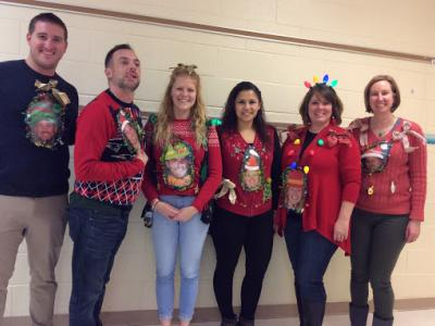 Sixth Grade Ugly Sweater Day