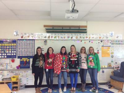 1st Grade Ugly Sweater Day