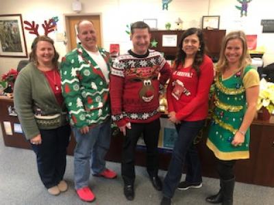 Office Staff Ugly Sweater Day